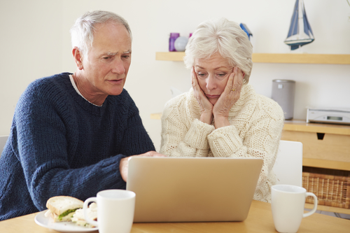 old couple considering CHIP reverse mortgage